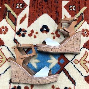 DV cork wedge heel heels